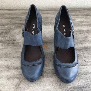Biviel Blue Heels size 8